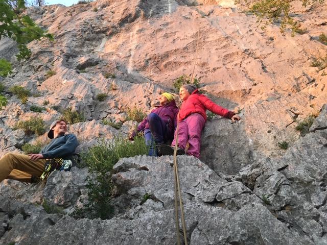 Yoga und Klettern