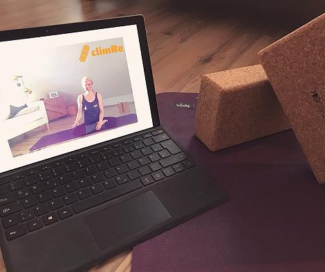 Online-Yoga für Kletter*innen